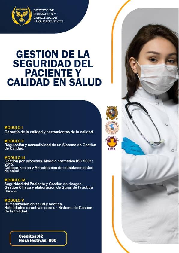 Gestión de la Seguridad del paciente y Calidad en Salud